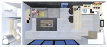 loft studio 20m2