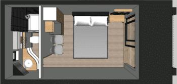 loft studio 20m2 avec WC