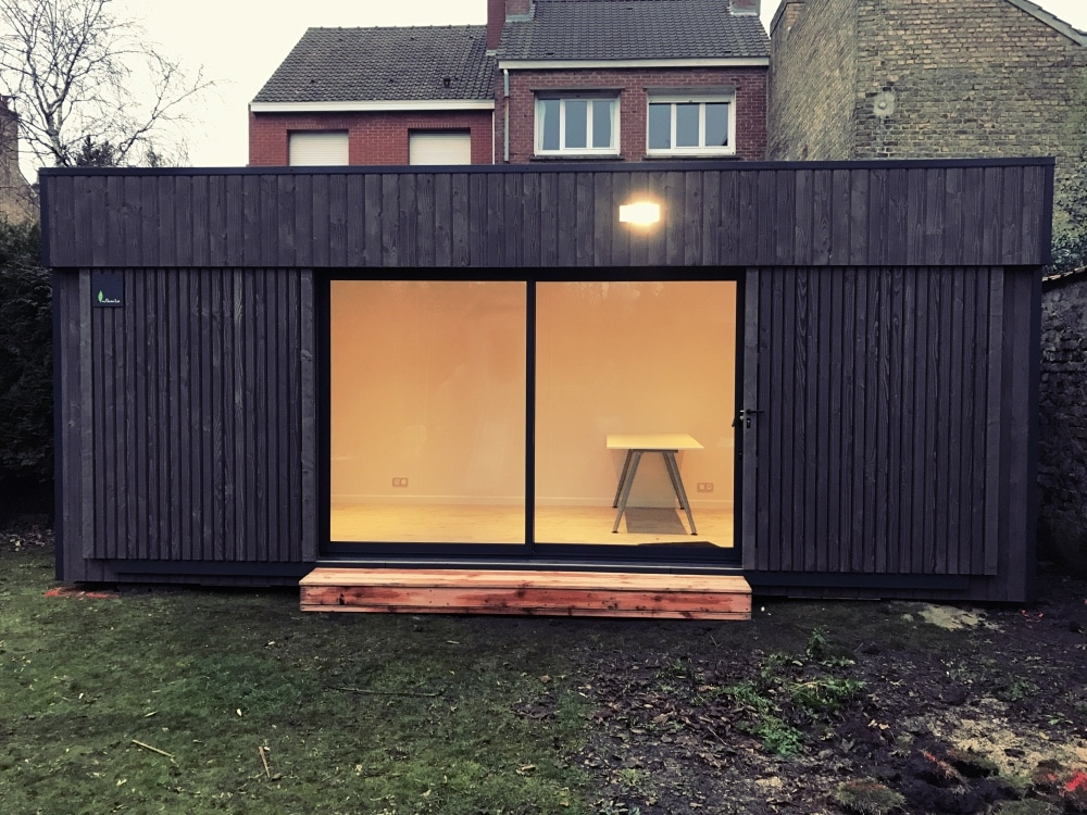 Studio de jardin en bois dunkerque 2