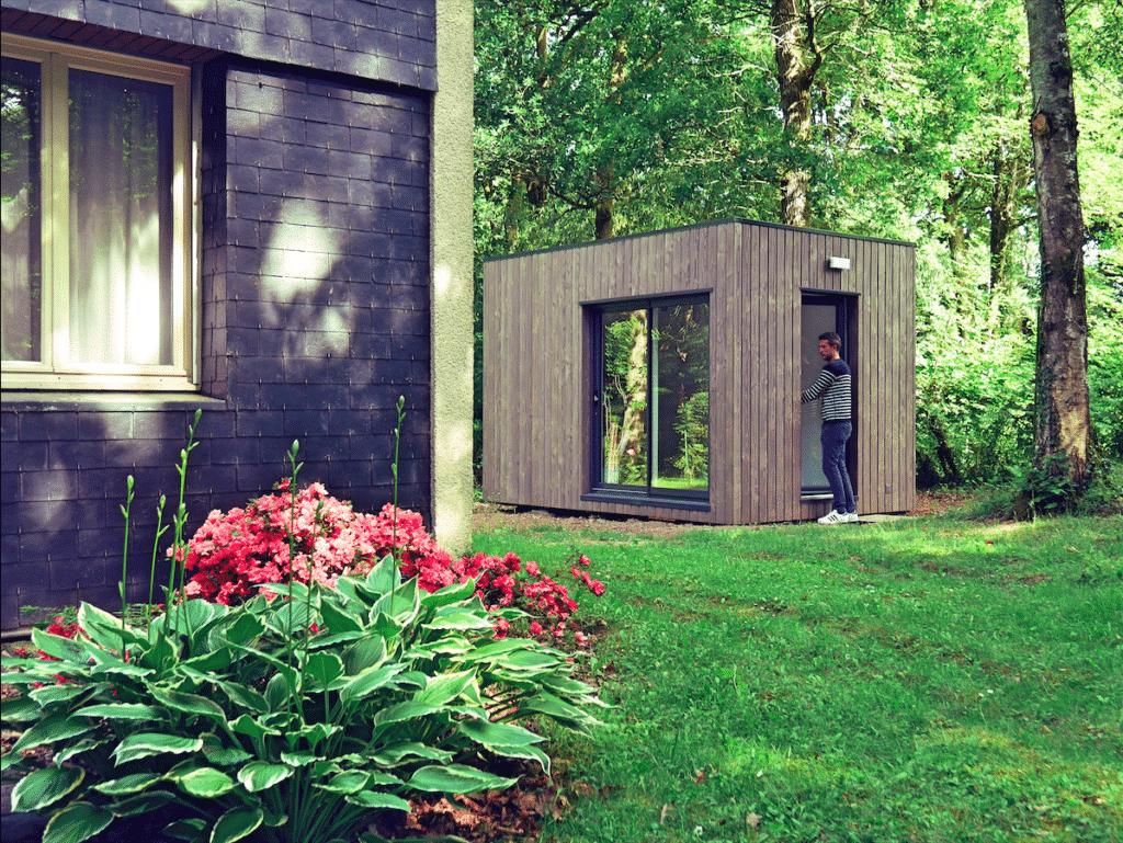 studio en bois de 12m2 en pleine nature my garden loft. Black Bedroom Furniture Sets. Home Design Ideas