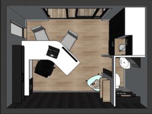 mini loft office télétravail