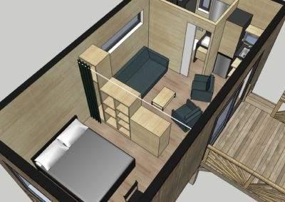 loft 3D studio de jardin