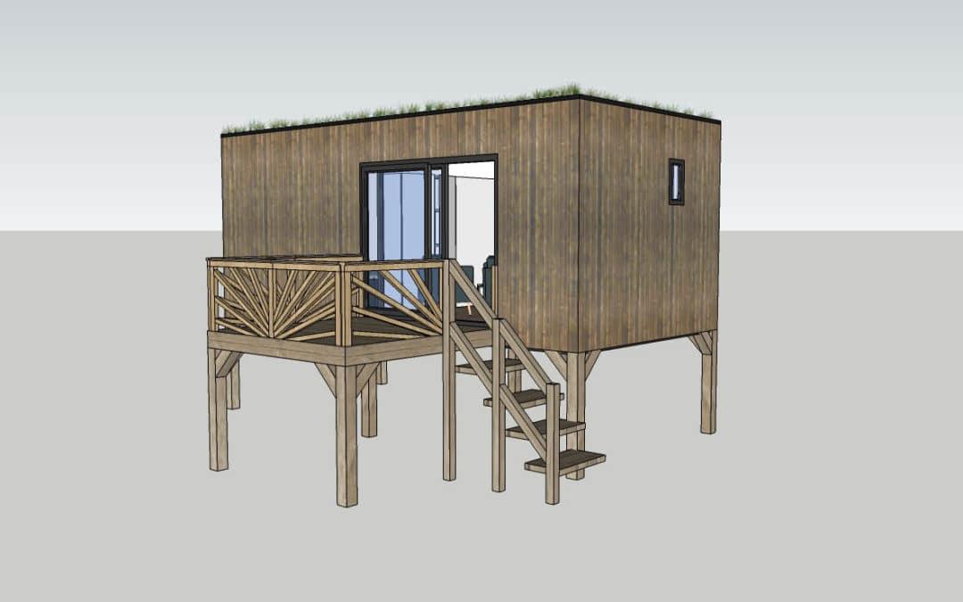 Studio de jardin avec escalier 20m2