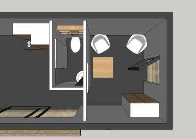 Plan intérieur loft de jardin
