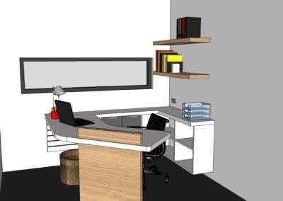 loft 3D bureau de jardin